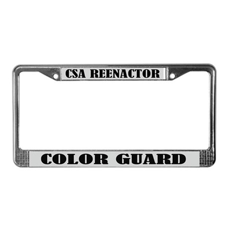 CSA Reenactor Color G uard License Frame