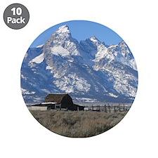"Tetons Historic Barn 3.5"" Button (10 pack)"