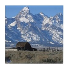 Tetons Historic Barn Tile Coaster