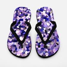 Violet Mosaic Pattern Flip Flops