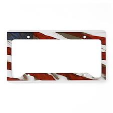 Red White & Blue License Plate Holder