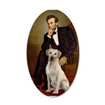 Lincoln-Yellow Lab 7 35x21 Oval Wall Decal