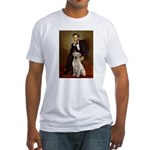 Lincoln-Yellow Lab 7 Fitted T-Shirt