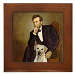 Lincoln-Yellow Lab 7 Framed Tile