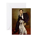 Lincoln-Yellow Lab 7 Greeting Card