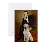 Lincoln-Yellow Lab 7 Greeting Cards (Pk of 20)