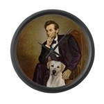 Lincoln-Yellow Lab 7 Large Wall Clock