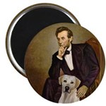 Lincoln-Yellow Lab 7 Magnet