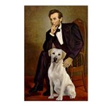 Lincoln-Yellow Lab 7 Postcards (Package of 8)