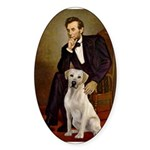 Lincoln-Yellow Lab 7 Sticker (Oval 10 pk)