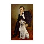 Lincoln-Yellow Lab 7 Sticker (Rectangle 10 pk)