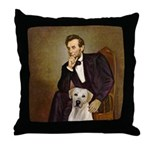 Lincoln-Yellow Lab 7 Throw Pillow