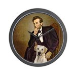 Lincoln-Yellow Lab 7 Wall Clock