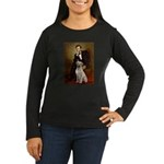 Lincoln-Yellow Lab 7 Women's Long Sleeve Dark T-Sh