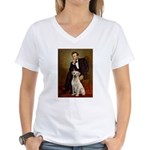 Lincoln-Yellow Lab 7 Women's V-Neck T-Shirt
