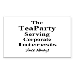 Tea Party Corps-black Decal