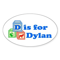 Baby Blocks Dylan Decal