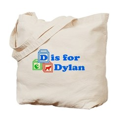 Baby Name Blocks - Dylan Tote Bag