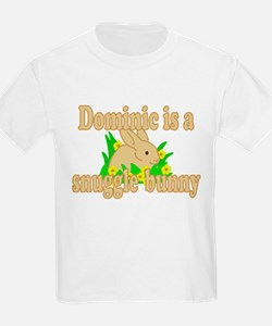 Dominic is a Snuggle Bunny T-Shirt