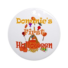 First Halloween Dominic Ornament (Round)