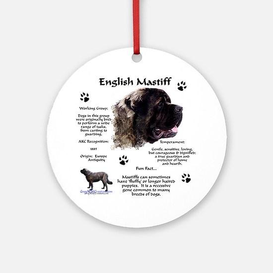Fluffy Mastiff 23 Ornament (Round)