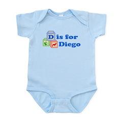 Baby Name Blocks - Diego Infant Bodysuit