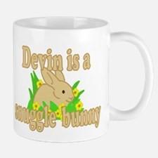 Devin is a Snuggle Bunny Mug