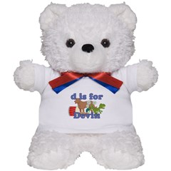 D is for Devin Teddy Bear