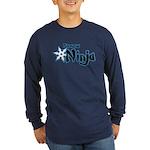 Shadow Ninja Blue Long Sleeve Dark T-Shirt