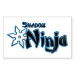 Shadow Ninja Blue Sticker (Rectangle 10 pk)