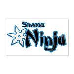 Shadow Ninja Blue 22x14 Wall Peel