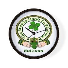 Sullivan Clan Motto 2 Wall Clock