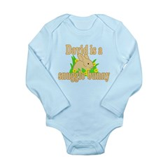 David is a Snuggle Bunny Long Sleeve Infant Bodysu
