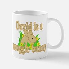 David is a Snuggle Bunny Mug