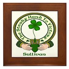 Sullivan Clan Motto 2 Framed Tile