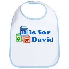 Baby Name Blocks - David Bib