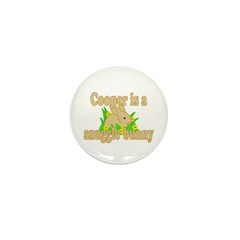 Cooper is a Snuggle Bunny Mini Button (100 pack)
