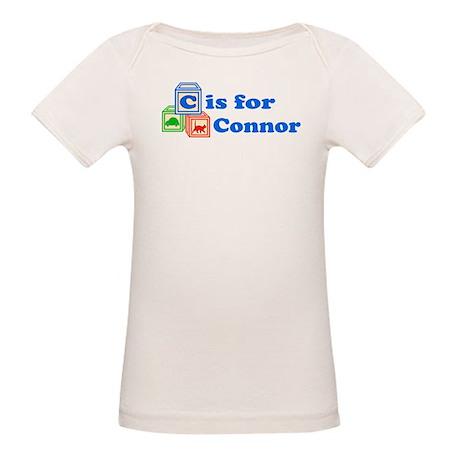 Baby Name Blocks - Connor Organic Baby T-Shirt