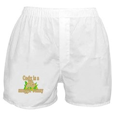Cody is a Snuggle Bunny Boxer Shorts