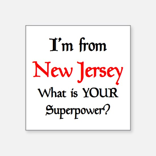 "from NJ Square Sticker 3"" x 3"""
