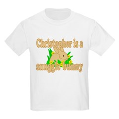 Christopher is a Snuggle Bunny T-Shirt