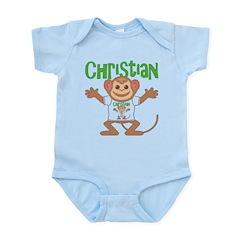 Little Monkey Christian Infant Bodysuit