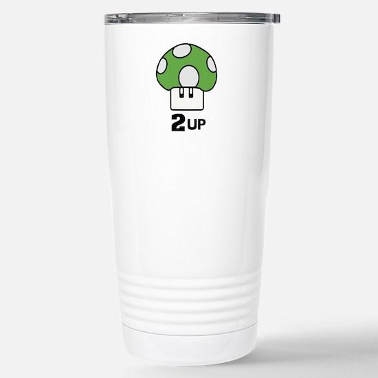 2 Up mushroom Stainless Steel Travel Mug
