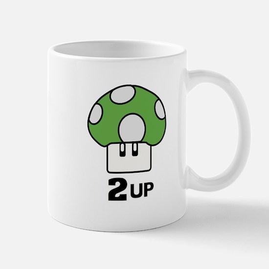 2 Up mushroom Mug
