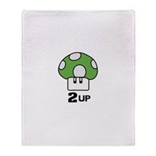 2 Up mushroom Throw Blanket