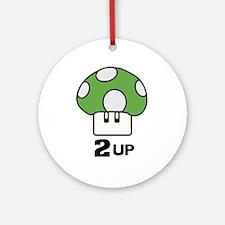 2 Up mushroom Ornament (Round)