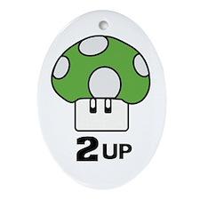 2 Up mushroom Ornament (Oval)