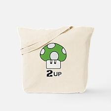 2 Up mushroom Tote Bag