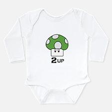 2 Up mushroom Long Sleeve Infant Bodysuit