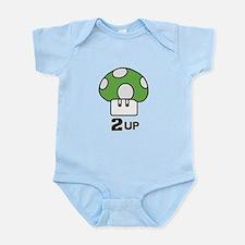 2 Up mushroom Infant Bodysuit